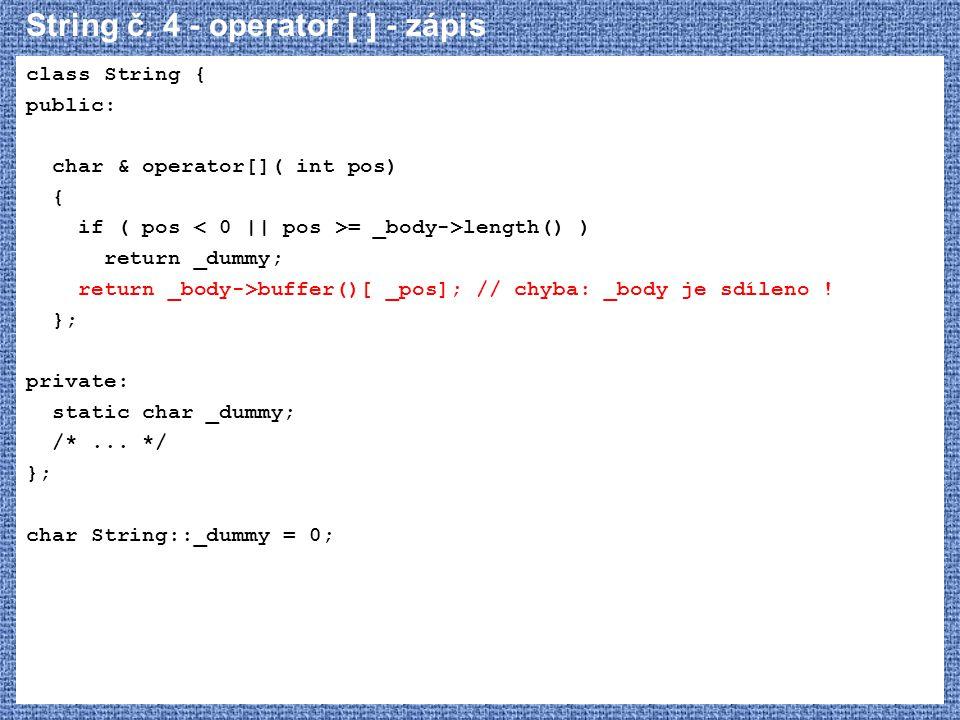 String č. 4 - operator [ ] - zápis